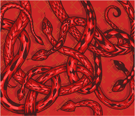 Year of the Snake fabric by luisapizza on Spoonflower - custom fabric