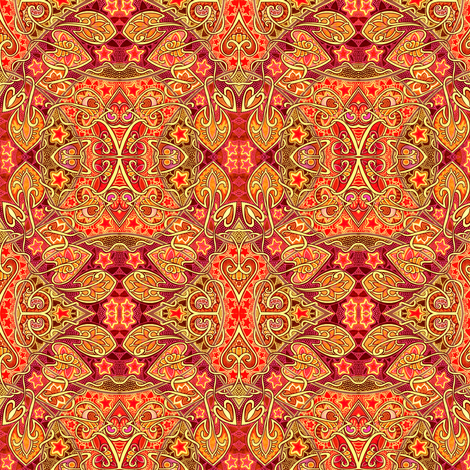 This Star Crossed Love is On Fire fabric by edsel2084 on Spoonflower - custom fabric