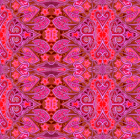 Fuchsia Flames of Desire fabric by edsel2084 on Spoonflower - custom fabric