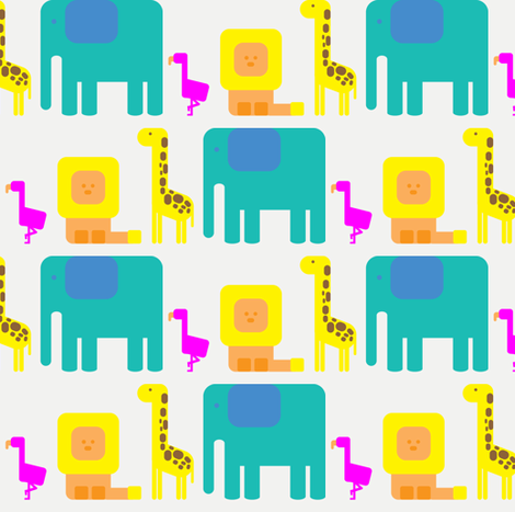 african cartoons fabric by lusyspoon on Spoonflower - custom fabric