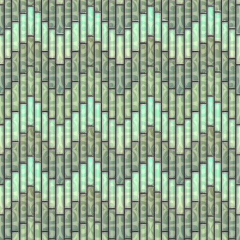 inuit chevron celadon 3x fabric by glimmericks on Spoonflower - custom fabric