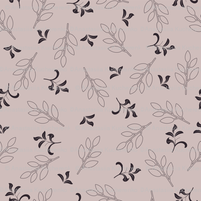 retro floral pattern