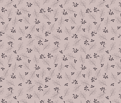 retro floral pattern fabric by anastasiia-ku on Spoonflower - custom fabric