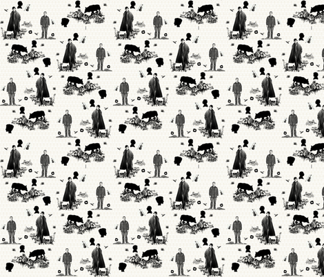 sherlock Toile fabric by rdsutherland on Spoonflower - custom fabric