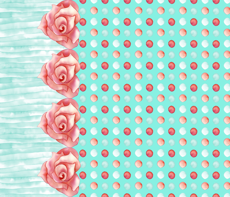 Romantica Red Dots fabric by gemmacreativa on Spoonflower - custom fabric
