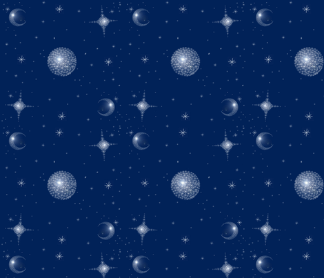 Starry Starry Dots  fabric by hollycejeffriess on Spoonflower - custom fabric