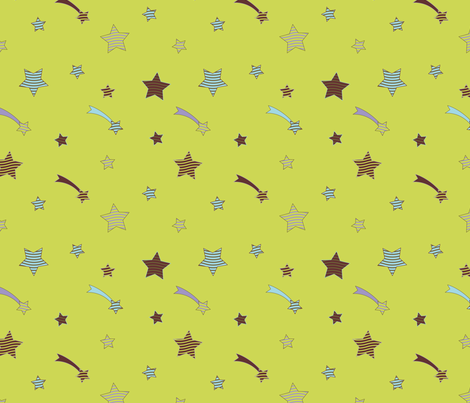 Fabric_PopStars2_green fabric by vannina on Spoonflower - custom fabric