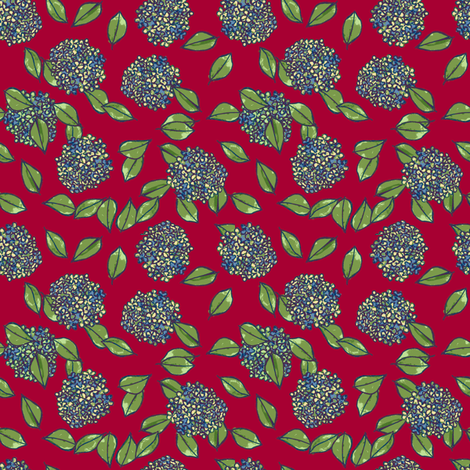 dark red blue bulbs fabric by karinka on Spoonflower - custom fabric