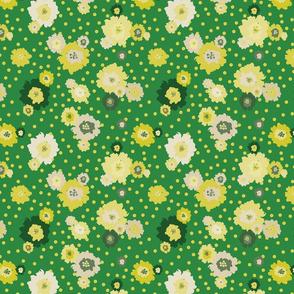 Mustard Flowers Green