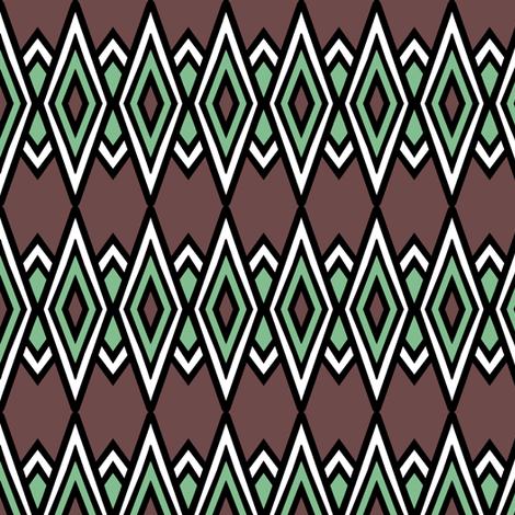 Mint Chocolate Diamonds fabric by pond_ripple on Spoonflower - custom fabric
