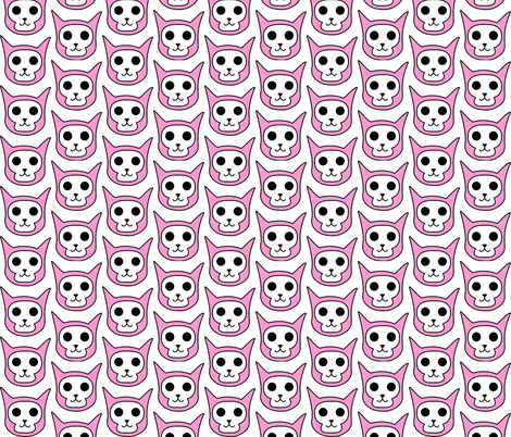 SkullKitty fabric by luisa_clauson on Spoonflower - custom fabric