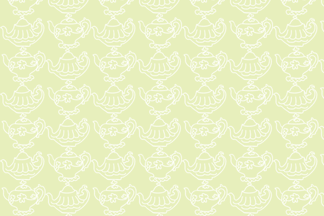 Teapots Flip (Lt. Lime & white) fabric by pattyryboltdesigns on Spoonflower - custom fabric