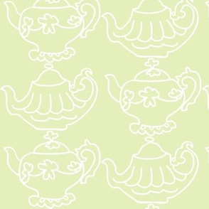 Teapots Flip (Lt. Lime &amp; white)