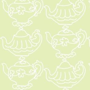 Teapots Flip (Lt. Lime & white)