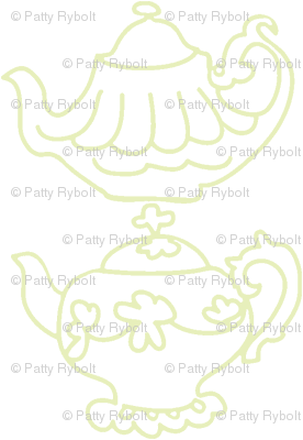 Teapots (Lt. Lime & white)