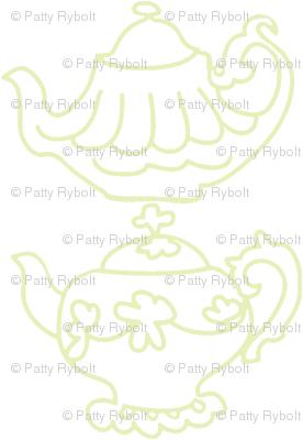 Teapots (Lt. Lime & white)