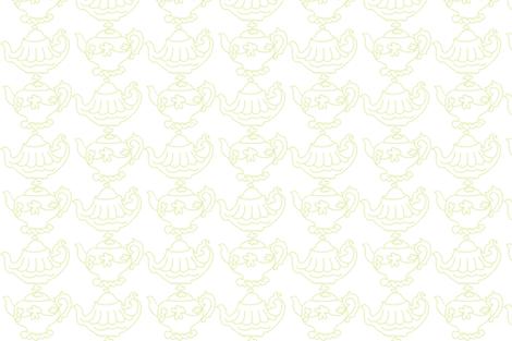 Teapots (Lt. Lime & white) fabric by pattyryboltdesigns on Spoonflower - custom fabric