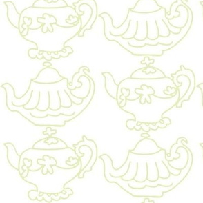 Teapots (Lt. Lime &amp; white)
