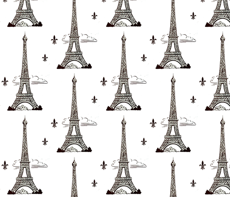Eiffel Tower by Paris bebe fabric by parisbebe_com on Spoonflower - custom fabric
