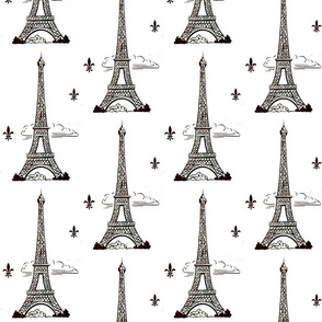 Eiffel Tower by Paris bebe