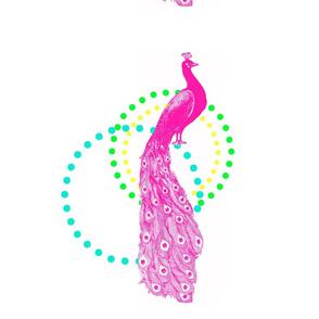 peacock dot frame