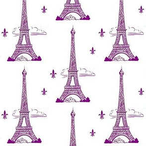 Eiffel Tower purple by Paris Bebe