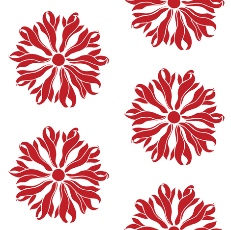 Red Holiday Flower fabric by cnarducci on Spoonflower - custom fabric