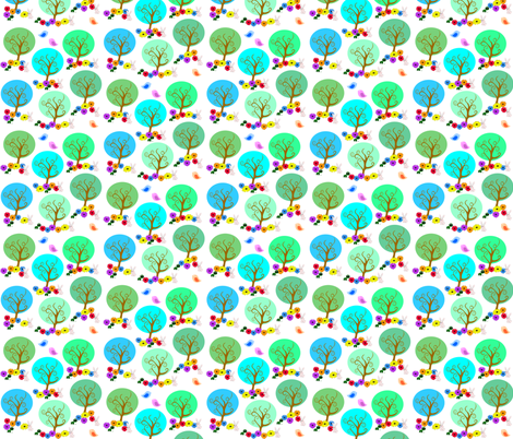 little trees fabric by krs_expressions on Spoonflower - custom fabric