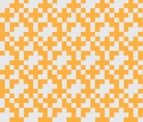 Orange Pixel fabric by kelsey_joronen on Spoonflower - custom fabric
