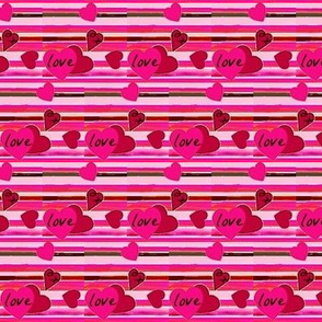 pink and red hearts 1