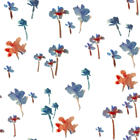 Emily Print fabric by susan_magdangal on Spoonflower - custom fabric