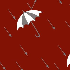 Grey Rain, White Umbrella