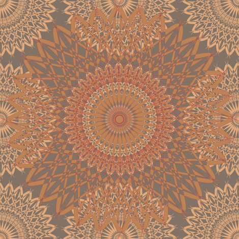 Grandma Neo - Rust fabric by telden on Spoonflower - custom fabric