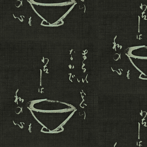 Tea Ceremony- chalkboard black & white fabric by materialsgirl on Spoonflower - custom fabric