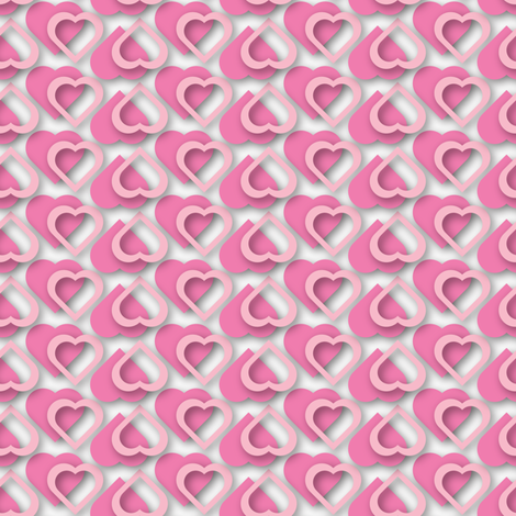 Heart to Heart fabric by jjtrends on Spoonflower - custom fabric
