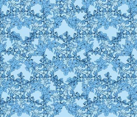 spring snowflakes fabric by karinka on Spoonflower - custom fabric