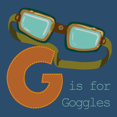 G is for Goggles fabric by phantomssiren on Spoonflower - custom fabric