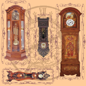 grandfather clocks small - light