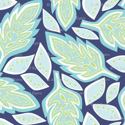 Big Leaves blue