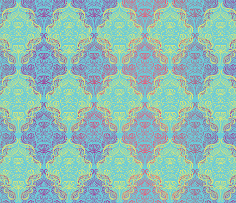 Elsie Neatly Damask fabric by meganhagelcreative on Spoonflower - custom fabric