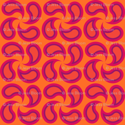 Not Quite Paisley Orange