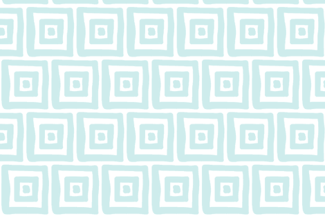 Retro Wonky Square (lt. aqua) fabric by pattyryboltdesigns on Spoonflower - custom fabric
