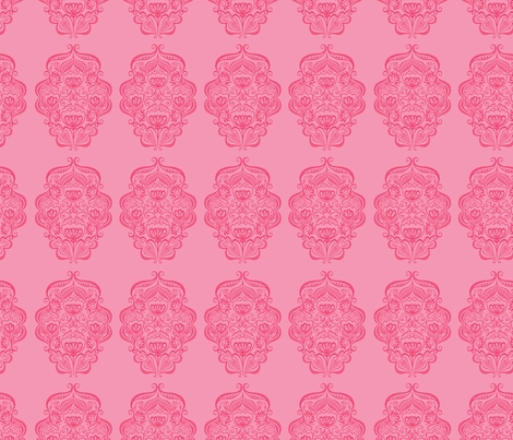 Rosalie Sweetly Pink fabric by meganhagelcreative on Spoonflower - custom fabric