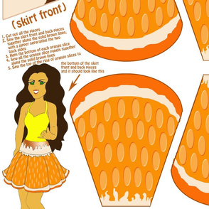 Orange a-peel skirt