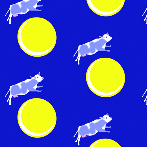 The Cow Jumped Over the Moon fabric by robin_rice on Spoonflower - custom fabric