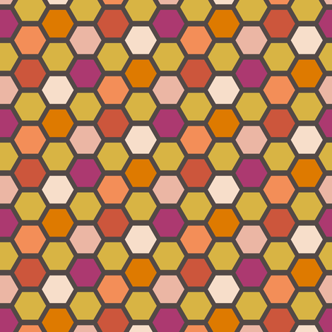tilesunset fabric by mrshervi on Spoonflower - custom fabric