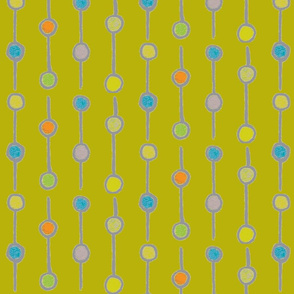 khaki string-a-long dots