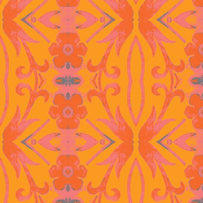 pink and orange tapestry