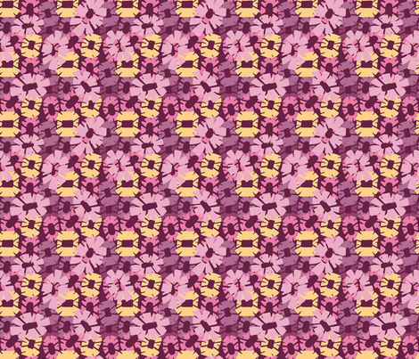 Field of Flowers Plum fabric by kathyjuriss on Spoonflower - custom fabric