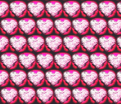 Shreaded Heart dark fabric by kimi_compassion on Spoonflower - custom fabric